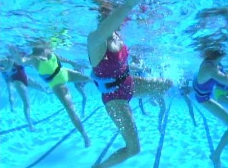 Упражнения аквааэробика для похудения живота и боков